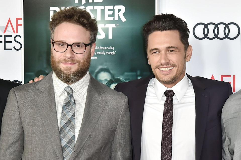 HOLLYWOOD, CA - NOVEMBER 12:  Seth Rogen and James Franco attend the AFI FEST 2017 Presented By Audi - Screening Of
