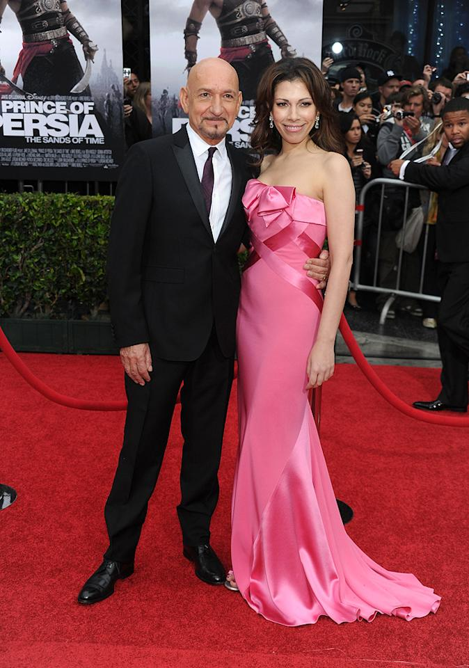"""<a href=""""http://movies.yahoo.com/movie/contributor/1800026534"""">Ben Kingsley</a> and wife at the Los Angeles premiere of <a href=""""http://movies.yahoo.com/movie/1810041991/info"""">Prince of Persia: The Sands of Time</a> - 05/17/2010"""