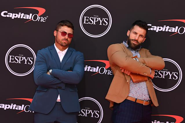 Paul Rabil (right) is no stranger to events like the ESPYs. (Getty Images)