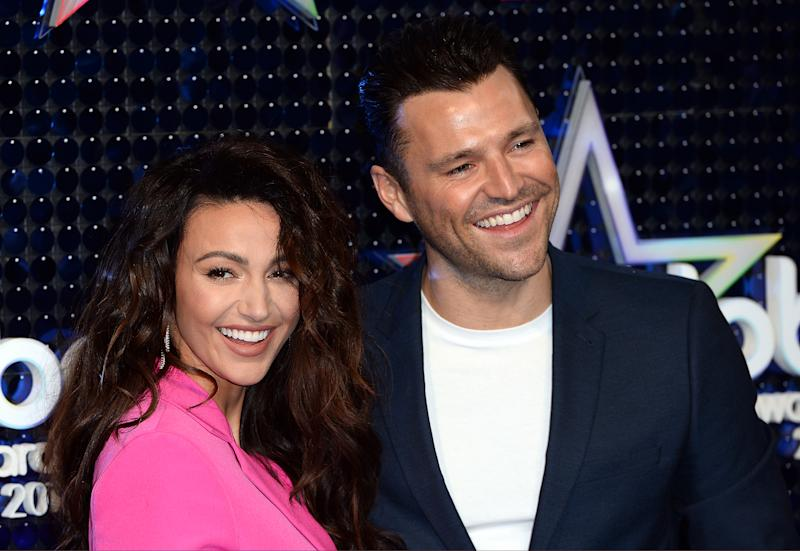Michelle Keegan and Mark Wright attend The Global Awards 2019. (Photo by Jeff Spicer/Getty Images)