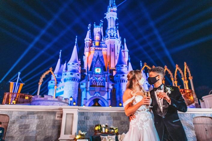Walt Disney World offers wedding packages for people who want to get married in the parks or Disney hotels.