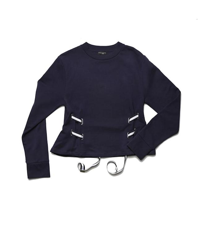 "<p>Ribbon Sweatshirt, $355,<a href=""https://www.soul-cycle.com/shop/item/SW15170007-514246/"" rel=""nofollow noopener"" target=""_blank"" data-ylk=""slk:soul-cycle.com"" class=""link rapid-noclick-resp""> soul-cycle.com</a> </p>"