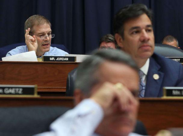 PHOTO: Rep. Jim Jordan questions Deputy Assistant FBI Director Peter Strzok during a hearing on Capitol Hill, July 12, 2018, in Washington. (Mark Wilson/Getty Images)