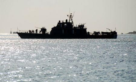 File Photo: One of two Iranian navy warships arrives to dock at Port Sudan in the Red Sea state December 8, 2012. REUTERS/Stringer