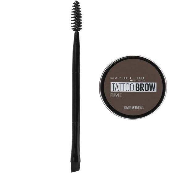 Maybelline Pomada para Cejas Brow Tattoo, Dark Brown,