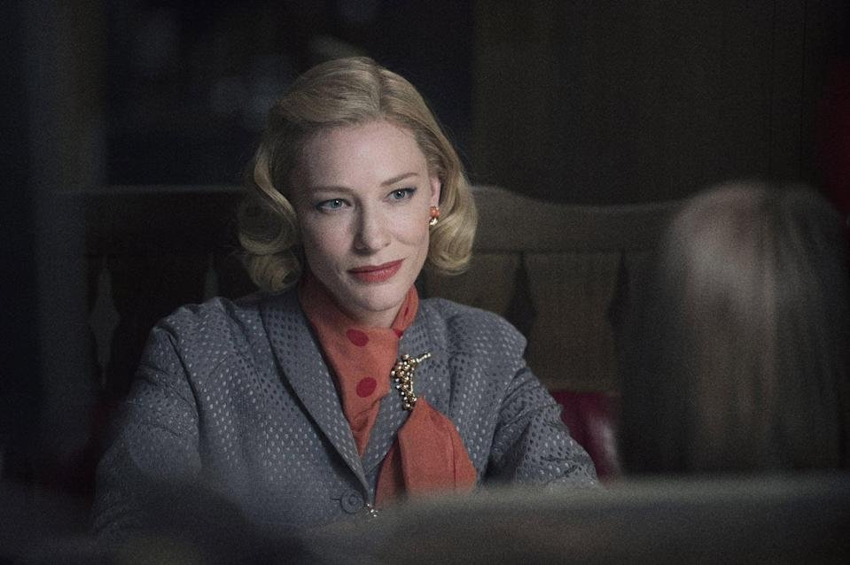 """<p>This tale, which follows the forbidden romance of two women (<a class=""""link rapid-noclick-resp"""" href=""""https://www.popsugar.com/Cate-Blanchett"""" rel=""""nofollow noopener"""" target=""""_blank"""" data-ylk=""""slk:Cate Blanchett"""">Cate Blanchett</a> and Rooney Mara) in the 1950s, earned a whopping six Oscar nominations.</p> <p><a href=""""https://www.netflix.com/title/80058700"""" class=""""link rapid-noclick-resp"""" rel=""""nofollow noopener"""" target=""""_blank"""" data-ylk=""""slk:Watch Carol on Netflix now"""">Watch <strong>Carol</strong> on Netflix now</a>.</p>"""
