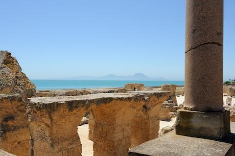 Carthage was once the seat of power over much of the Mediterranean - Credit: Getty