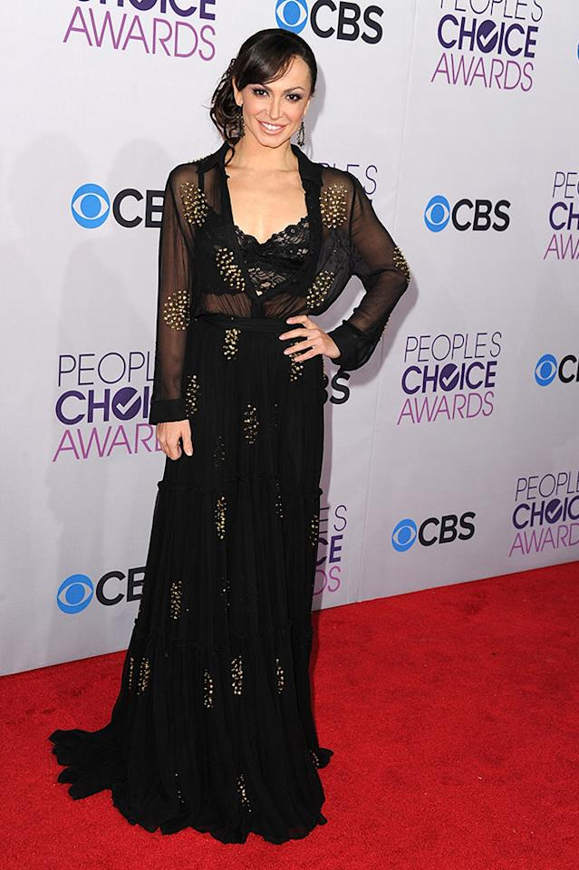 Karina Smirnoff attends the 2013 People's Choice Awards at Nokia Theatre L.A. Live on January 9, 2013 in Los Angeles, California.