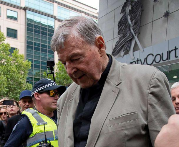PHOTO: Cardinal George Pell leaves the County Court in Melbourne, Australia, Feb. 26, 2019. (Andy Brownbill/AP)