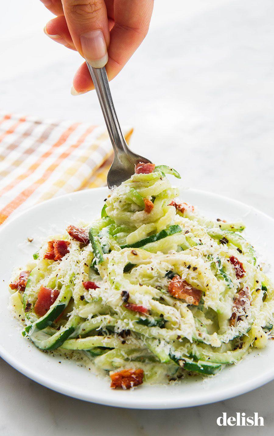 """<p>You can add chicken, if that's more your vibe.</p><p>Get the recipe from <a href=""""https://www.delish.com/cooking/recipe-ideas/a24742964/keto-zoodles-alfredo-sauce-recipe/"""" rel=""""nofollow noopener"""" target=""""_blank"""" data-ylk=""""slk:Delish"""" class=""""link rapid-noclick-resp"""">Delish</a>.</p>"""