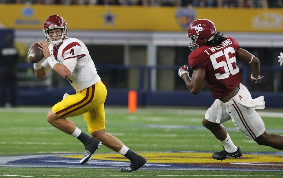 Alabama's Tim Williams has one elite trait — rushing the passer — that could make him a high draft pick. (AP)