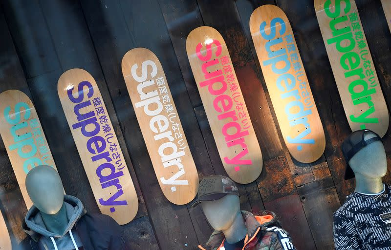 FILE PHOTO: A window display is seen at a Superdry store in London