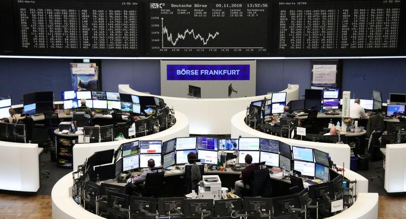 The German share price index DAX graph is pictured at the stock exchange in Frankfurt, Germany, November 9, 2018. REUTERS/Staff