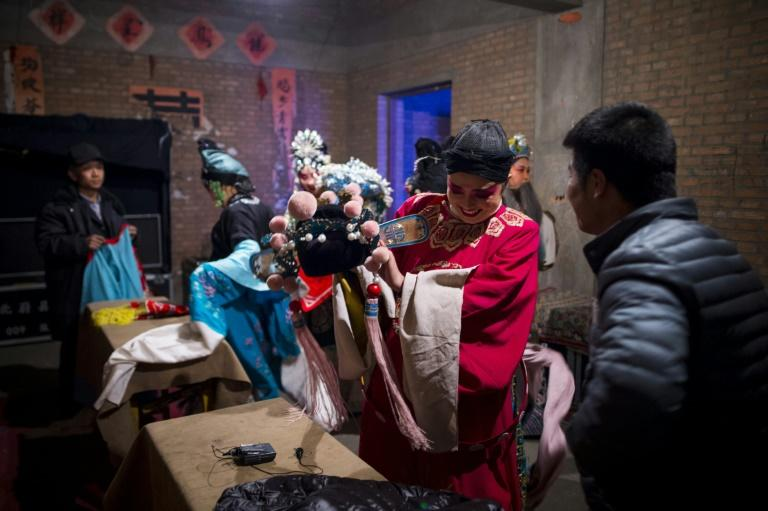 Jin opera, which is characterised by upbeat songs and wooden clapper instruments, originated in the northern Shanxi province bordering Yu county