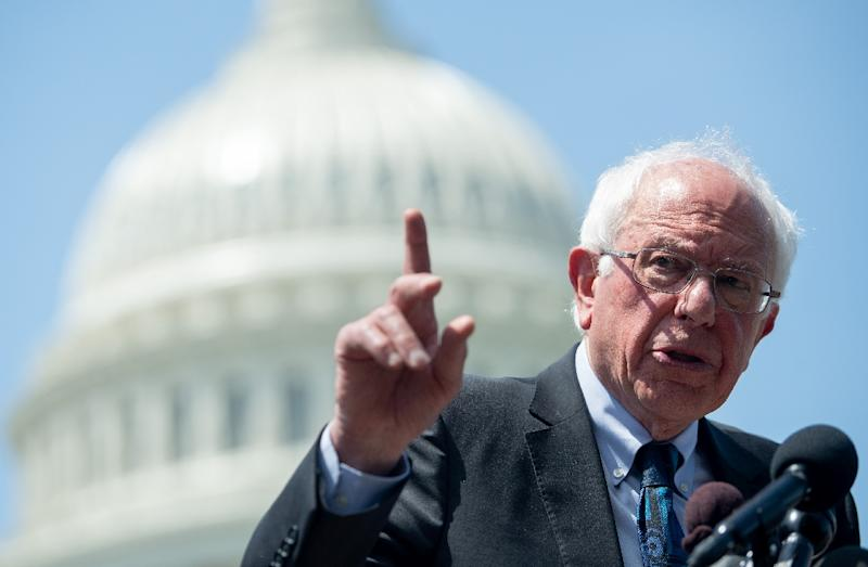 Senator Bernie Sanders, who is vying for the Democratic presidential nomination, has unveiled an ambitious plan to erase all student loan debt (AFP Photo/SAUL LOEB)
