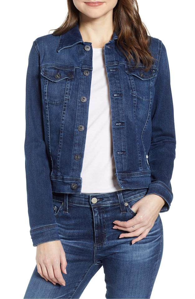 "<p><product href=""https://www.nordstrom.com/s/ag-robyn-crop-denim-jacket/5743210?origin=category-personalizedsort&amp;breadcrumb=Home%2FSale%2FWomen&amp;color=pinnacle%20blue"" target=""_blank"" class=""ga-track"" data-ga-category=""internal click"" data-ga-label=""https://www.nordstrom.com/s/ag-robyn-crop-denim-jacket/5743210?origin=category-personalizedsort&amp;breadcrumb=Home%2FSale%2FWomen&amp;color=pinnacle%20blue"" data-ga-action=""body text link"">Robyn Crop Denim Jacket</product> ($139, originally $198)</p>"