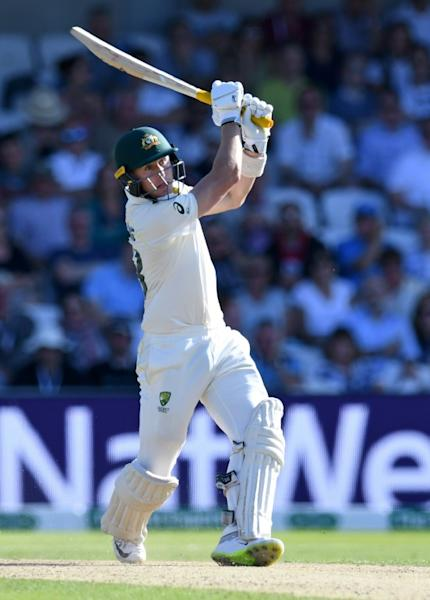 'Gutsy' - Australia's Marnus Labuschagne on his way to 53 not out at Headingley on Friday