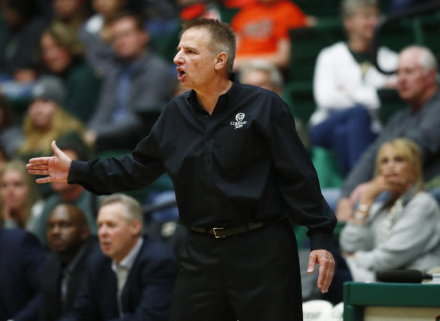 Colorado State University officials announced that Rams coach Larry Eustachy has been placed on administrative leave as the climate of the men's basketball program is assessed. (AP Photo)