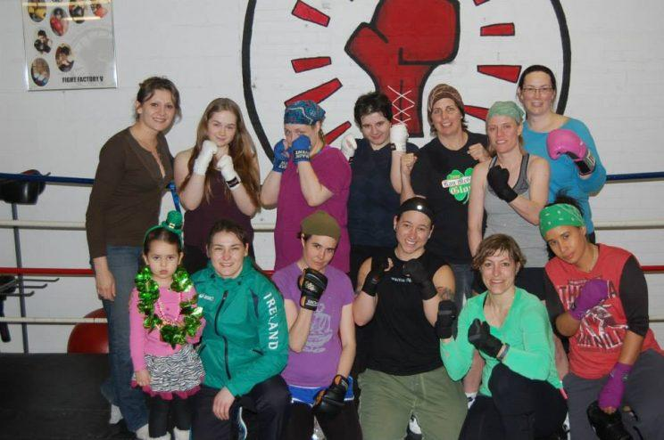 A group picture of some of the club's participants. Photo from Facebook/Toronto Newsgirls Boxing Club.