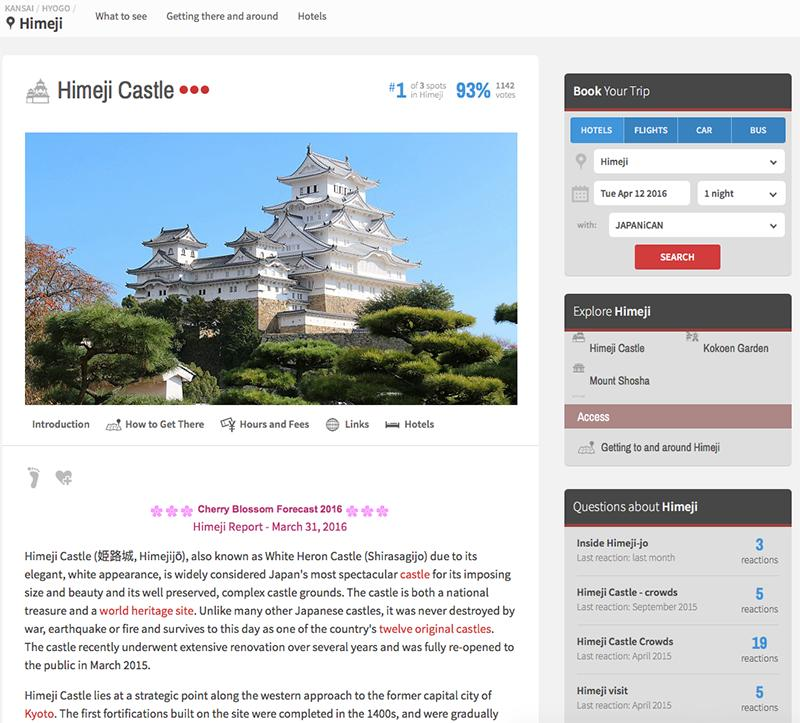 Japan Guide contains guides to just about every attraction and region in Japan, and is a great starting point for your research.