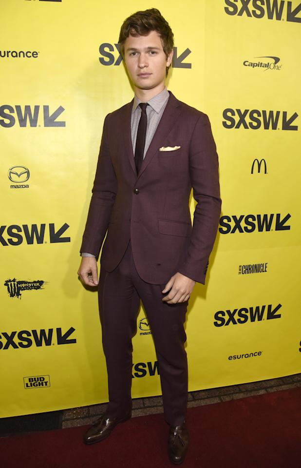 <p>WHERE: At the premiere of 'Baby Driver' at the 2017 SXSW Conference and Festivals in Austin.</p><p>WHEN: March 11, 2017</p><p>WHY: Because the best suit to buy right now is one in an uncommon color.</p>
