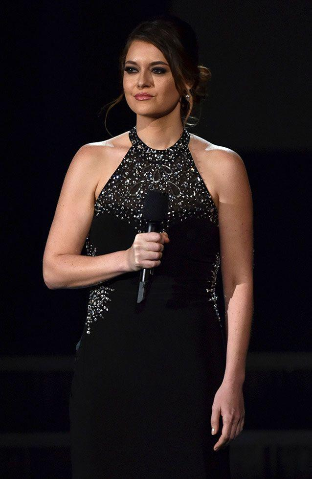 Axtell appeared at the 2015 Grammy Awards to speak about her experience. Source: Getty