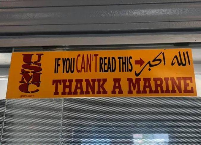 A fast food restaurant in Illinois faces controversy over a bumper sticker. (Photo: Facebook)