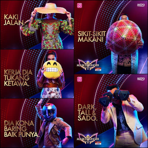 """More """"The Masked Singer Malaysia"""" images tweeted to hype up the show."""