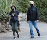 <p><em>Mr. Mayor</em> star Ted Danson and his wife Mary Steenburgen masked up for a hike in Los Angeles.</p>