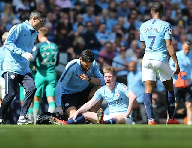 Man City vs Tottenham: Pep Guardiola in the dark over extent of Kevin De Bruyne's latest injury