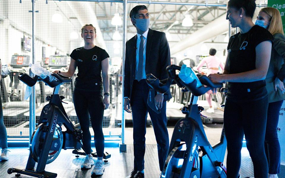 Mr Sunak admitted to being a fan of spinning classes at the gym