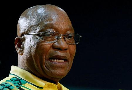 FILE PHOTO: President of South Africa Jacob Zuma attends the 54th National Conference of the ruling African National Congress (ANC) at the Nasrec Expo Centre in Johannesburg, South Africa December 16, 2017. REUTERS/Siphiwe Sibeko/File Photo