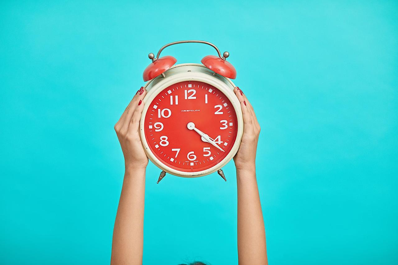 """<p>Some mornings you just <em>can't</em>, and <a href=""""https://www.popsugar.com/fitness/Does-Hitting-Snooze-Button-Make-You-More-Tired-45980847"""" class=""""ga-track"""" data-ga-category=""""Related"""" data-ga-label=""""https://www.popsugar.com/fitness/Does-Hitting-Snooze-Button-Make-You-More-Tired-45980847"""" data-ga-action=""""In-Line Links"""">hitting the snooze button</a> is inevitable. But making a regular habit of it isn't a good idea. It can make you more tired, late for wherever you need to be, and rush so you miss something important like breakfast or, you know, putting on deodorant.</p>"""