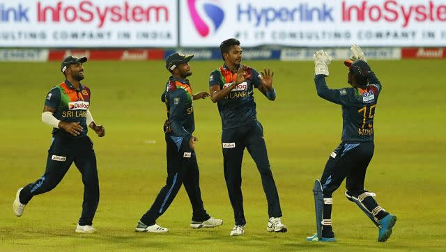 India won the toss in the decider and opted to bat, but their decision to do so was met with an early setback, as Dushmantha Chameera saw off Shikhar Dhawan in the first over. AP