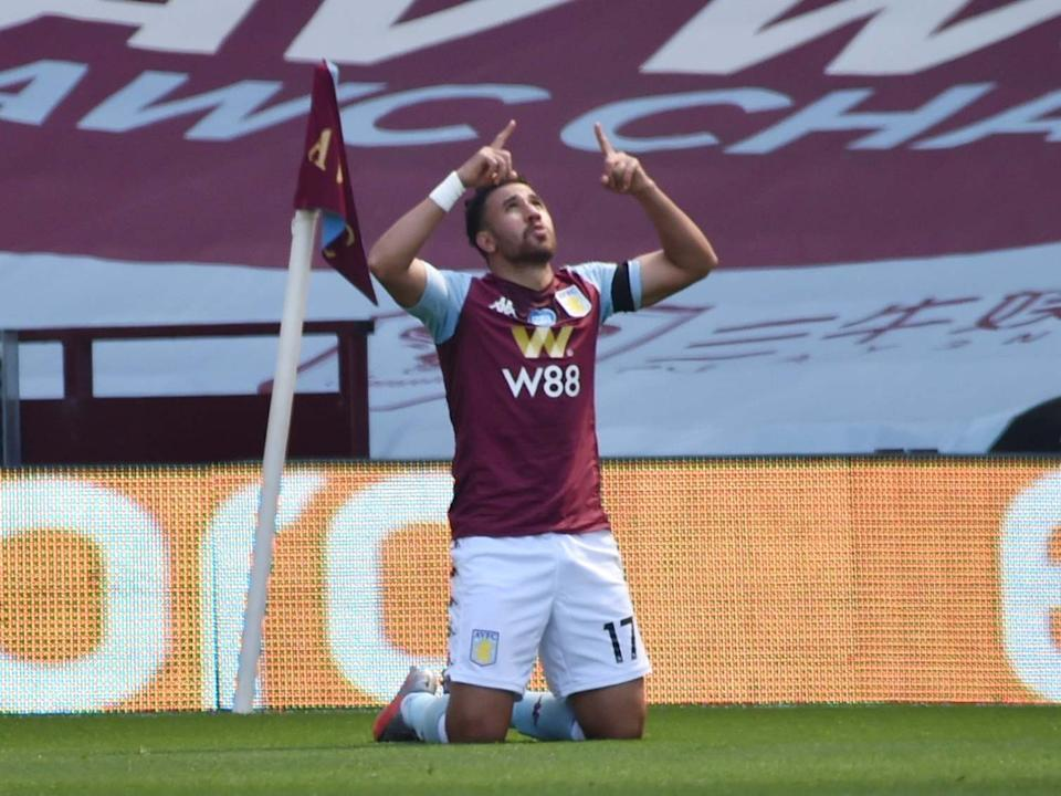 Trezeguet scored a double to earn a vital win for Villa against Palace: EPA