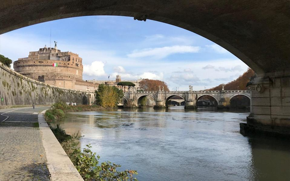 The River Tiber flows through the centre of Rome - Nick Squires