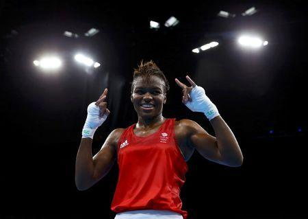 2016 Rio Olympics - Boxing - Final - Women's Fly (51kg) Final Bout 267 - Riocentro - Pavilion 6 - Rio de Janeiro, Brazil - 20/08/2016. Nicola Adams (GBR) of Britain reacts after winning her bout. REUTERS/Peter Cziborra
