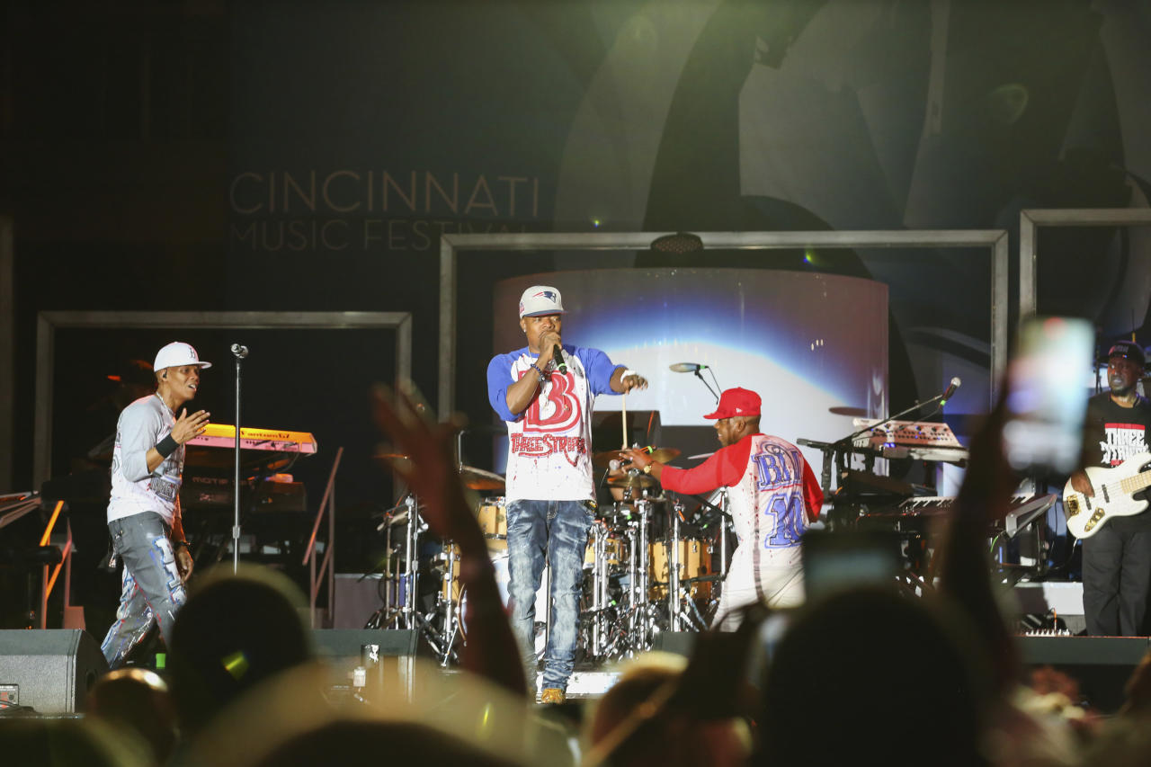 IMAGE DISTRIBUTED FOR P&G - Bell Biv Devoe Keeps the Crowd Rocking at The Cincinnati Music Festival presented by P&G on Friday, July 28, 2017 in Cincinnati. (Photo by Matthew Allen/Invision for P&G/AP Images)