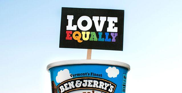 Ben & Jerry's is banning double-ups on the same flavour in a marriage equality protest. Source: Supplied