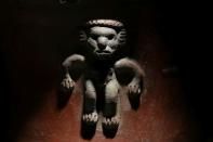 A detail of a pre-Columbian pot, repatriated from the Brooklyn Museum in New York, U.S., is pictured at the facilities of the Costa Rica's National Museum, in Pavas