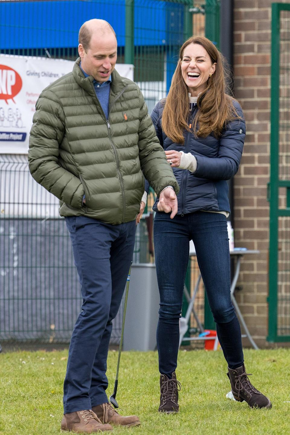 William and Kate visit Durham on 27 April 2021Getty Images