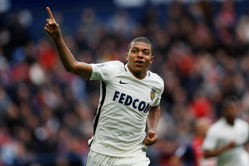 Striking star: Mbappe has set Europe alight with his recent form: AFP/Getty Images