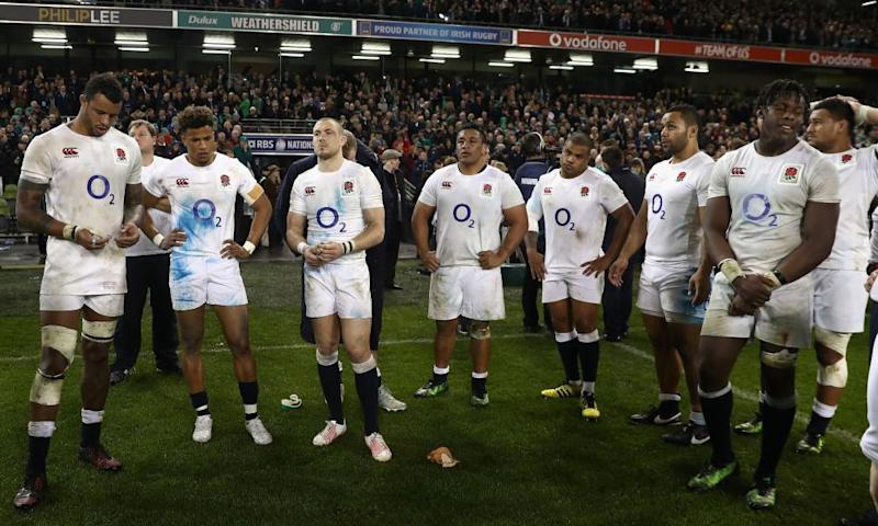 England were pretty dejected following defeat in Dublin, but at least they weren't on the brink of setting a world record of consecutive international wins.