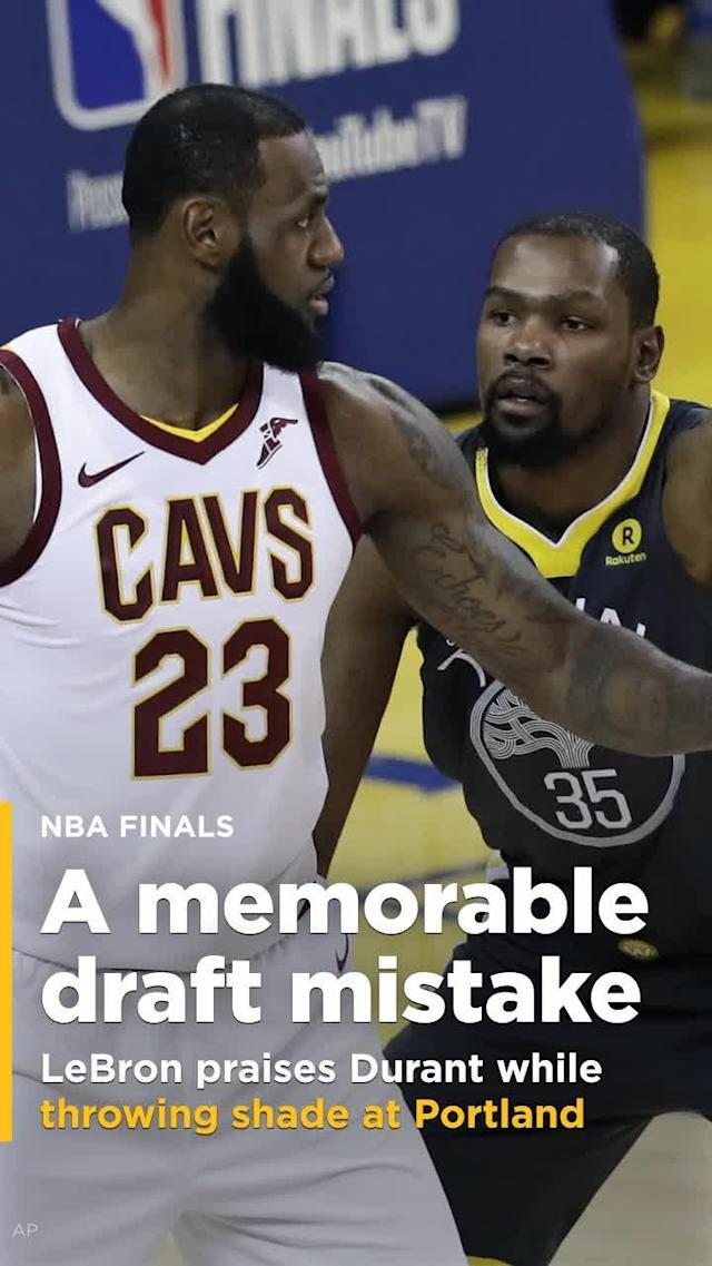 In his press conference on Thursday, LeBron James couldn't avoid more questions about Kevin Durant. One reporter asked him if he thought Durant was going to be a superstar back when LeBron faced him and the Oklahoma City Thunder in the 2012 NBA Finals.