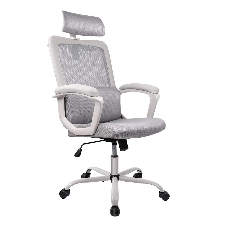 "<h2>High Back Ergonomic Mesh Desk Chair</h2><br><br><strong>SMUGDESK</strong> High Back Ergonomic Mesh Desk Chair, $, available at <a href=""https://amzn.to/2GWloWi"" rel=""nofollow noopener"" target=""_blank"" data-ylk=""slk:Amazon"" class=""link rapid-noclick-resp"">Amazon</a>"