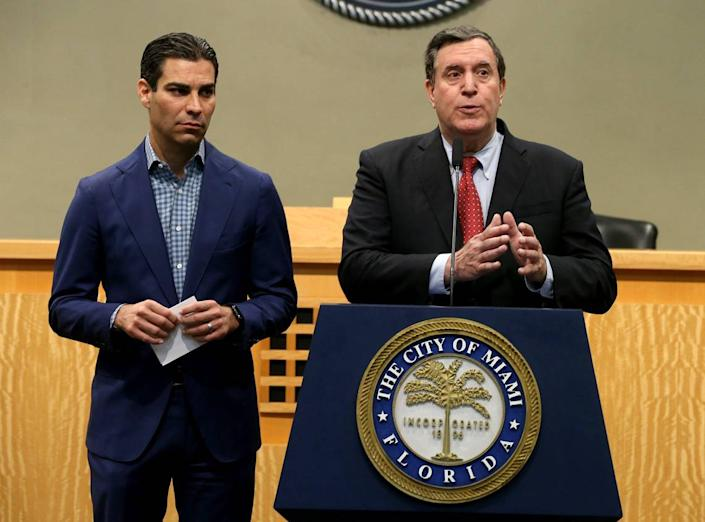 Miami Mayor Francis Suarez and Commissioner Joe Carollo called a press conference at City Hall to talk about the measures the city government will take to prepare for coronavirus. One of those measures could be to postpone Ultra Music Festival, currently scheduled for March 20-22.