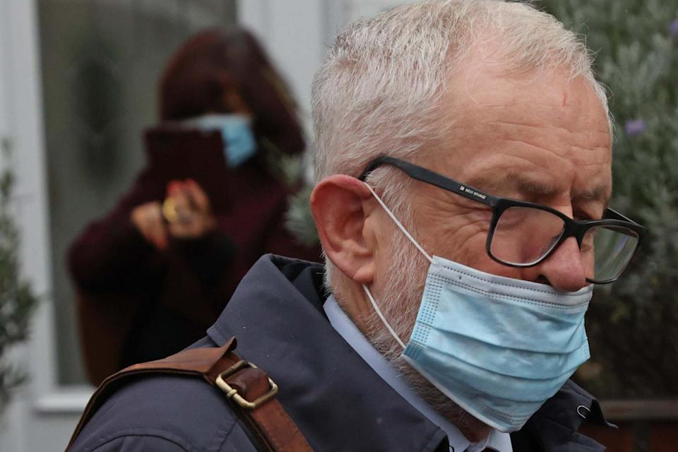 Jeremy Corbyn leaving home ahead of the report on Thursday morning (Nigel Howard)NIGEL HOWARD ©