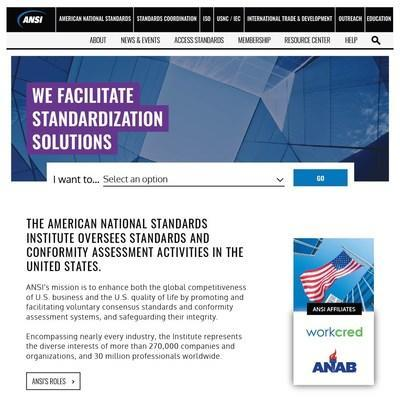 ANSI.org Launches with a New Look.