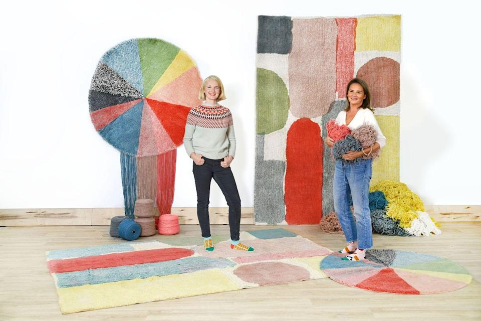 """<p>Designed by Donna Wilson for Lorena Canals, this 'Woolable' rug (natural wool that's machine washable) is handmade in India, with a base of recycled cotton yarn. 'It brought together my two loves –colourful textiles and wool!' enthuses Wilson. The 'Pie Chart' rug (on the floor) is a version of a design she first knitted as a blanket. £173, <a href=""""https://www.donnawilson.com/product/pie-chart-rug"""" rel=""""nofollow noopener"""" target=""""_blank"""" data-ylk=""""slk:donnawilson.com"""" class=""""link rapid-noclick-resp"""">donnawilson.com</a></p>"""
