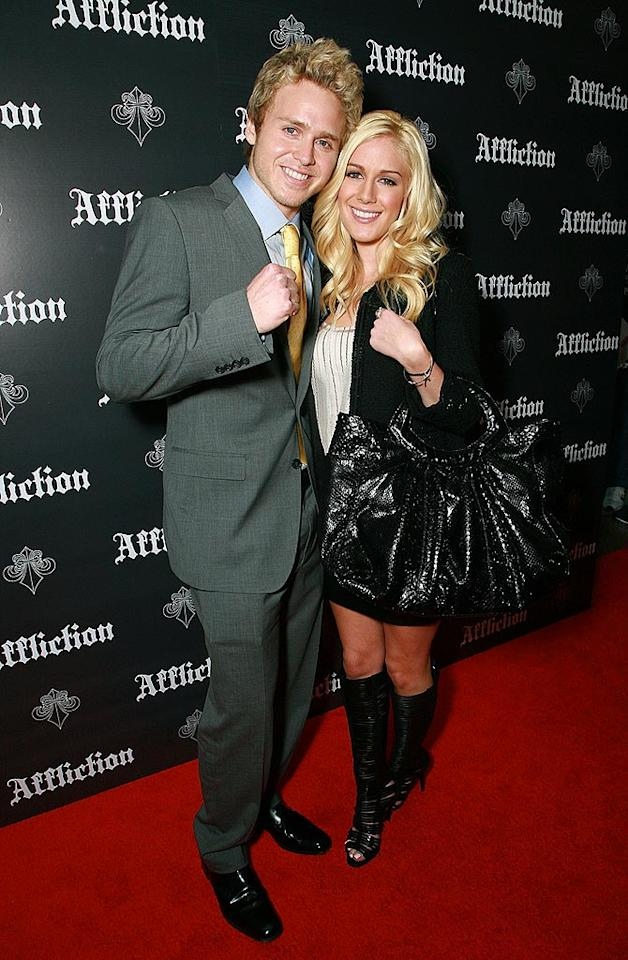 """Hills"" hotties Spencer Pratt and Heidi Montag attend Affliction: Day Of Reckoning, a mixed martial arts event at the Honda Center in Anaheim, California. Tiffany Rose/<a href=""http://www.wireimage.com"" target=""new"">WireImage.com</a> - January 24, 2009"